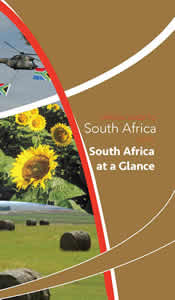 Cover page of SA at a glance in Pocket guide to South Africa