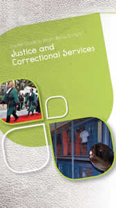 Cover page of Justice and Correctional Services chapter in Pocket Guide to South Africa