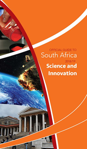 Cover page of Science and Innovation chapter in Official Guide to South Africa 2018/2109
