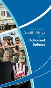 Cover page of Police and Defence chapter in Official Guide to South Africa 2018-2019