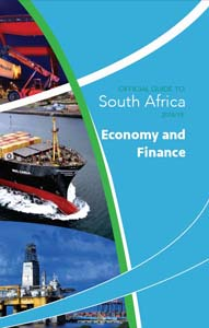 Cover page of Economy and Finance chapter in the Official Guide to South Africa 2018/2019