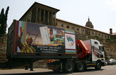 Truck arriving at the Union Buildings