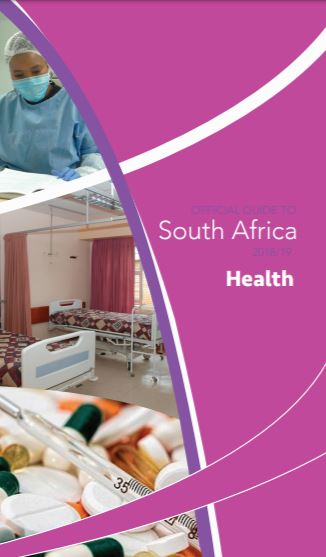 Cover page of Health Chapter in Official Guide to South Africa 2018/2019