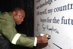 Deputy President Cyril Ramaphosa  the 20 Years of Democracy Exhibition
