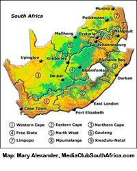 Africa Map Geography.Geography And Climate South African Government