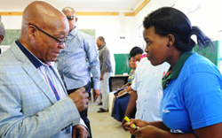 President Zuma voting in Nkandla